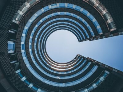 High rise building in key hole shape
